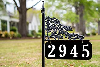 Oak 30 Inch Reflective Address Sign - Double Sided - Easy to Read Day and Night