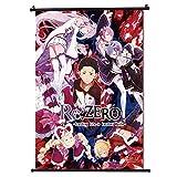 Re Zero Wall Scroll Japan Anime Poster de desplazamiento Formato 30x45cm (12 x 18 in)