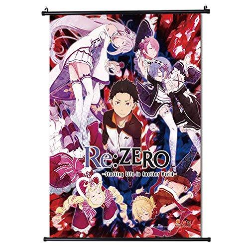 Re Zero Wall Scroll Japan Anime Poster di scorrimento Formato 30x45cm (12 x 18 in)
