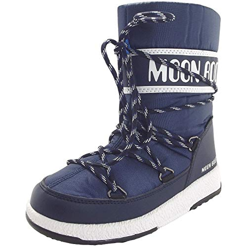 Moon-boot Unisex Kinder Jr Boy Sport Wp Schneestiefel, Blau (Blu 002), 35 EU