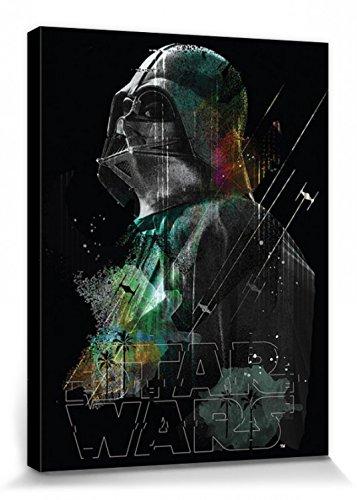 1art1 Star Wars - Rogue One, Darth Vader Lines Bilder Leinwand-Bild Auf Keilrahmen | XXL-Wandbild Poster Kunstdruck Als Leinwandbild 80 x 60 cm
