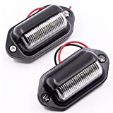 Paision One Pair 12v Truck Trailer Rv Aircraft LED License Plate Tag Light or Convenience Courtesy Door Step Lamp