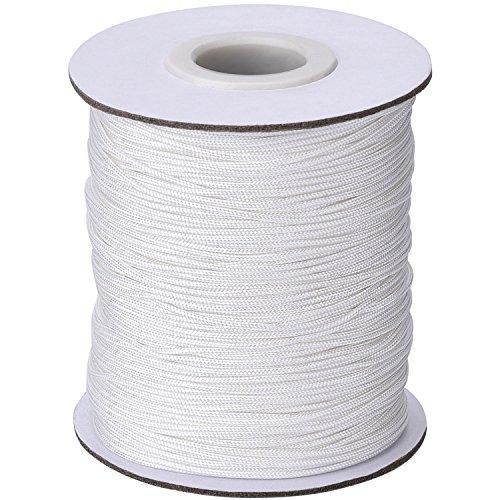 1,0 mm Weiß Geflochtene Lift Shade Cord Zugschnur für Jalousien Aluminium Blind Shade, Gartenbau Werk & Handwerk, 109 Yards/Roll