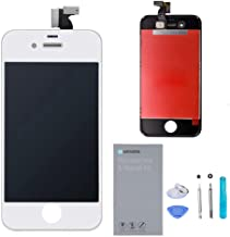 URSEND iPhone 4S LCD Touch Screen Replacement Display Digitizer Assembly Kit White with Repair Tools