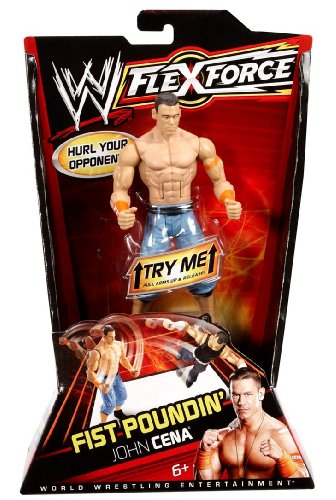 WWE FlexForce Fist Poundin' John Cena Action Figure with Orginal Arm Band