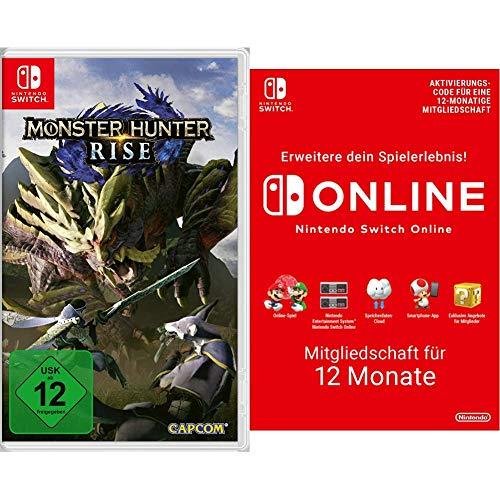 Monster Hunter Rise - [Nintendo Switch] + Nintendo Switch Online Mitgliedschaft - 12 Monate   Switch Download Code