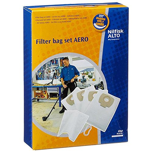 Boite de 4 sacs polyester + 1 filtre a eau aero aspirateur nilfisk 21-01pcinox