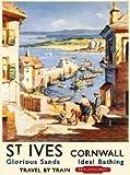 St Ives Hafen, Cornwall Britisch- Eisenbahn Cornish Urlaub