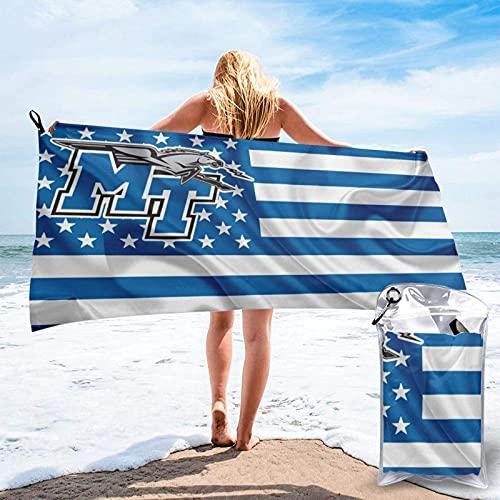 Liberty University - Toalla de playa de microfibra de secado rápido con una bolsa de transporte, toalla superabsorbente para viajes, playa, gimnasio, camping, piscina, yoga, al aire libre