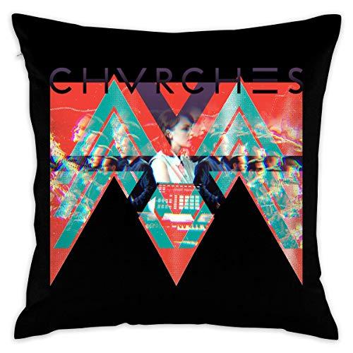 NoNo Chvrches The Bones of What You Believe Decorative Cushion Cover Pillow Covers Case Pillowcases Kissenbezüge (40cmx40cm)