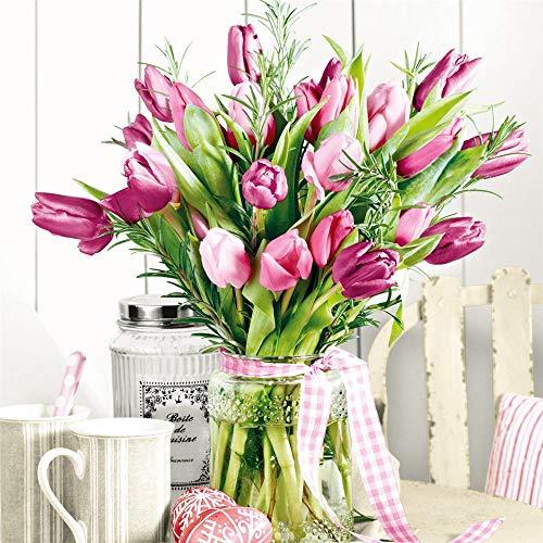 Nouveau Bunch of Tulips papieren servetten, meerkleurig, 33 x 33