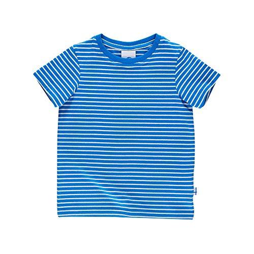 Finkid Supi blue offwhite Kinder Jersey Ringel kurzarm Shirt