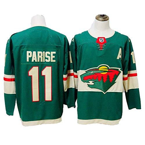 Yajun Mikko Koivu#9/Zach Parise#11/Eric Staal#12 Minnesota Wild Maglie da Hockey su Ghiaccio NHL Uomo Hockey Jersey Felpe Traspirante T-Shirt Sportswears,11-Green,L/52