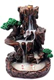 Backflow Incense Burner Waterfall Mountain Tower Incense Holder with 50 Backflow Incense Cones and 50 Incense Sticks for Home Decor Office Yoga Aromatherapy Ornament