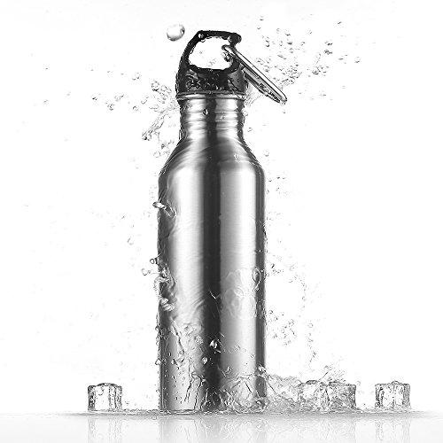 ecooe Sport Outdoor Trinkflasche Edelstahl Wasser Flasche 780ml Wasserflasche Sportflasche mit Aluminum Karabiner