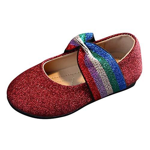 Kinder Mädchen Erbsen Schuhe Mode Prinzessin Schuhe Regenbogen Bogen Glitzer in den großen Kinderschuhen koreanischen Mädchen Schuhe
