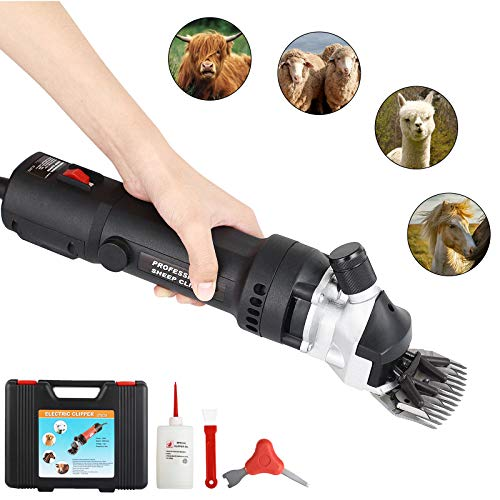Tammible Sheep Shears Portable Electric Clippers for Goats Alpaca Horse Support Heavy Duty Shearing Work 350 Watts (Black)