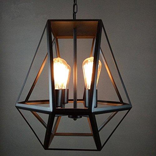 Retro vintage design hanglamp modern creatief hanglamp industriële plafondlamp metaal ijzer lampenkap hanglampen 2 x vlammig E27 voor hotel woonkamer slaapkamer eetkamer verlichting