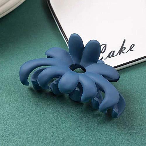 Accessoires pour cheveux Net rouge grand bain cheveux pince à cheveux épingle à cheveux coiffe pratique simple givré grande taille top clip épingle à cheveux cheveux accessoires-bleu