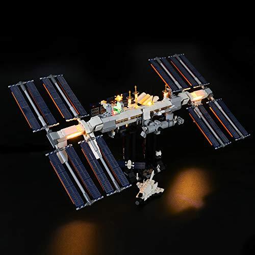 BRIKSMAX Kit de Iluminación Led para Lego International Space Station,Compatible con Ladrillos de Construcción Lego Modelo 21321, Juego de Legos no Incluido