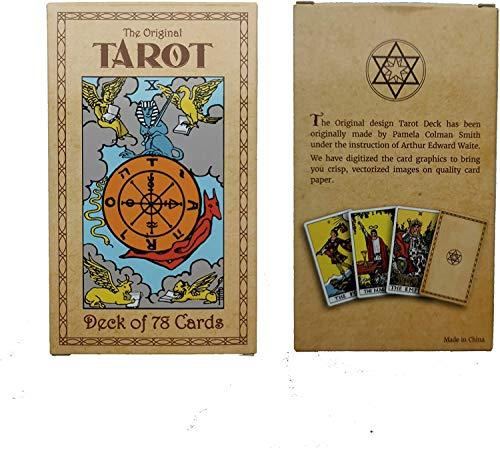 YTTde 78 Piezas/Juego De Cartas De Tarot con Libro Guía, Diseño Original De Pamela Colman para Juegos De Mesa, Fiestas
