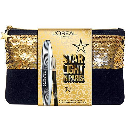 L'Oréal Paris Pochette Idea Regalo 2 Pezzi, Mascara Volumizzante Ciglie Finte Farfalla e Matita Occhi Formato Viaggio Superliner Le Khol