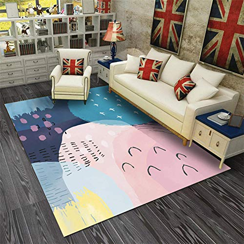 Weicher Teppich Stilvoller Und SüßEr Designerteppich, Geeignet FüR Kinder- Und MäDchenzimmer, Weich Und Gepflegt,140X200Cm