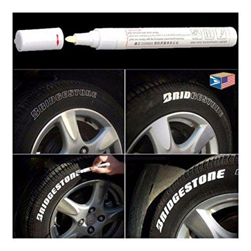ESKONI TIRE Letter White Permanent Paint Pen Side Wall Rubber Acrylic Oil Base Marker!- TIRE Pen