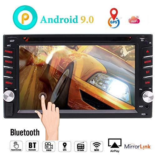 Android 9.0 Auto-Navigation Stereo mit Bluetooth Doppel-DIN-Autoradio in Schlag-Auto-DVD-Spieler des L?rm 2 GPS-Sat-System Wifi Mirrorlink Unterst¨¹tzungs-USB-SD-1080P Bunten Knopf beleuchtet neuen UI