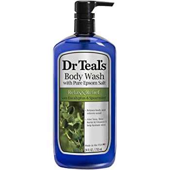 Dr Teal's Ultra Moisturizing Body Wash Relax and Relief with Eucalyptus Spearmint, 24 Fluid Ounce
