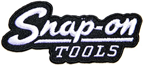 Snap on Tools Logo Sign Racing Biker Hot Rod Racer Patch Iron on Applique Embroidered T shirt Jacket BY PANICHA (black)