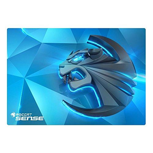 Roccat Sense Kinetic High Precision Gaming Mousepad (Mikrokristallbeschichtung, Größe: 400 mm x 280 mm x 2 mm), Blau/Schwarz