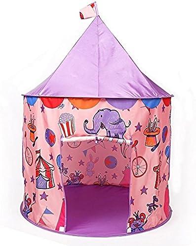 LIAN Kinder Spiel Zelt Indoor und Outdoor Dekoration Spiel Haus Falten Spielzeug Haus (39,4  39,4  51,2 Zoll Verpackung von 1) (Farbe   Lila)