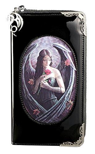 Geldbörse mit Gothic Engel 3D Motiv | Angel Rose von Anne Stokes | Portemonnaie Lack Fantasy Portmonee