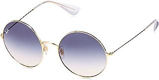 Ray-Ban Ja Jo Metall Runde Sonnenbrille in Gold blau braun Farbverlauf RB3592 001/I9 55