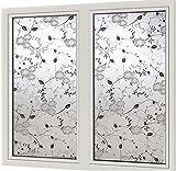 FANPING Privacidad Mate lámina for ventanas, estático no-adhesiva parachoques de Anti-ultravioleta Aislamiento térmico de la ventana de cristal de la película, for la oficina móvil dormitorio Baño Pue