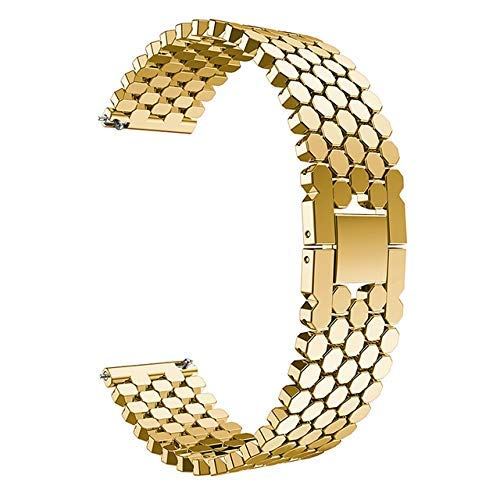KTZAJO 2021 La última correa de reloj de acero inoxidable de 22 mm para Samsung Galaxy de 46 mm Gear S3 Classic Frontier Band Band pulsera Link Band (color: dorado)