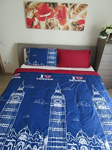 Pago Poco 'Einzel Bettbezug mit Kissenbezug Schmuckset Urban. Deckenbezug 155x 200+ 40cm, 1Kissenbezug 52x 82cm.