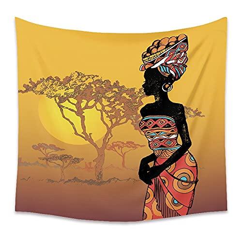 KHKJ Tapiz de niña de África nórdica Personalidad Tapices de Pared Colgantes Coloridos Decoración de Dormitorio para el hogar Acentos de Pared Tapiz de Tela A4 230x180cm