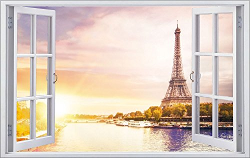 Paris Eiffelturm Frankreich Wandtattoo Wandsticker Wandaufkleber F0840 Größe 70 cm x 110 cm