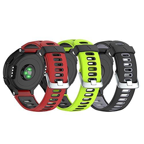 NotoCity Garmin Forerunner 735XT Armband, Kompatibel mit Armband Forerunner 235/230/220/620/630/735XT, Uhrenarmband Soft Silikon Ersatzband für Garmin 735XT, Easy-fit, Mehrfache Farben