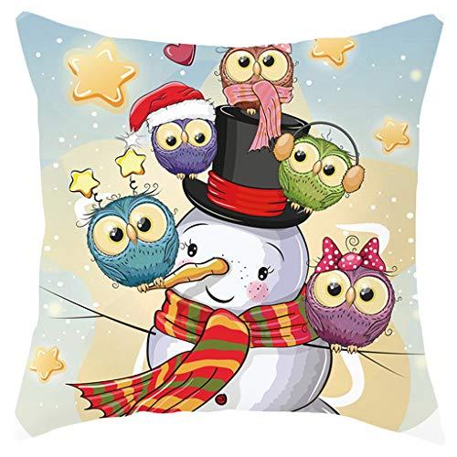 Goosuny Weihnachten Kissenbezug Cartoon Tiere Muster Weihnachtskissen Sofa Kissenbezüge Couchkissen Dekokissen Kissenhüllen Kinder Zimmer Deko Schöne Wohnkultur, 45X45 cm