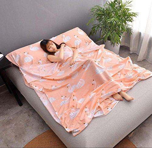 Double/seule personne Portable enveloppe type de coton Sac de couchage Hôtel extérieur quatre saisons Adulte pliante Sac de couchage 5 tailles, 003, 180*230 cm