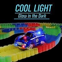 Symiu Pista Macchinine Giocattolo Pista Cars Luminosa Veicoli con Flessibile 240 Pezzi e 2 LED Cars per Bambini 3 #3