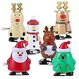 Toddmomy Paquete de 6 Juguetes de Cuerda de Navidad Calcetín de...