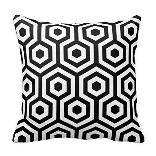 MARCOMAX Elegant Black And White Pattern Sofa Throw Cover