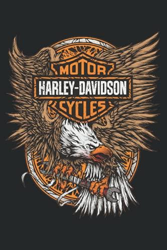 Kalender 2022 Harley Davidson Schwarz Adler Notizbuch Wochenplaner