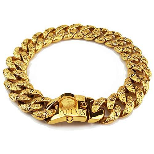 DUPFY 32 MM Schwere Große Hundehalsband Große Gold Stianless Stahl Choke Trainingshalsband Halskette Kette Für Männer Frauen Hund 50CM
