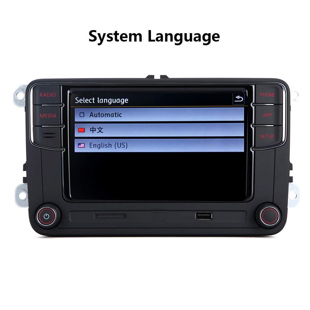 Scumaxcon 6 5 Autoradio Stereo Oem Mib2 Rcd330 Carplay Mirrorlink Rvc Bt Sd Karte Touchscreen Speicherkarte Eingang Auto Navigator Für Vw Golf 5 6 Passat Caddy Eos Passat Touran Cc Polo Auto