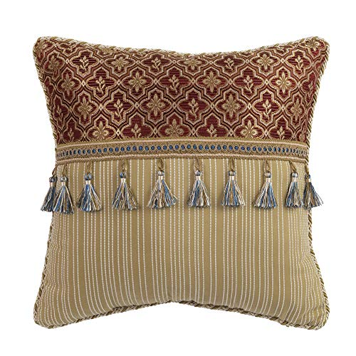 Croscill Arden Fashion Pillow, Red